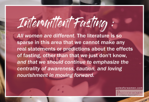Shattering the Myth of Fasting for Women: A Review of Female