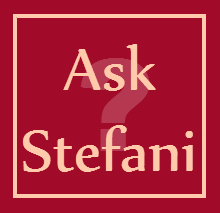 ask stefani with question mark arial black