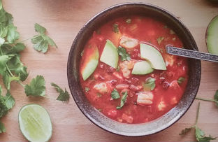 paleo for women spicy shrimp and chorizo soup