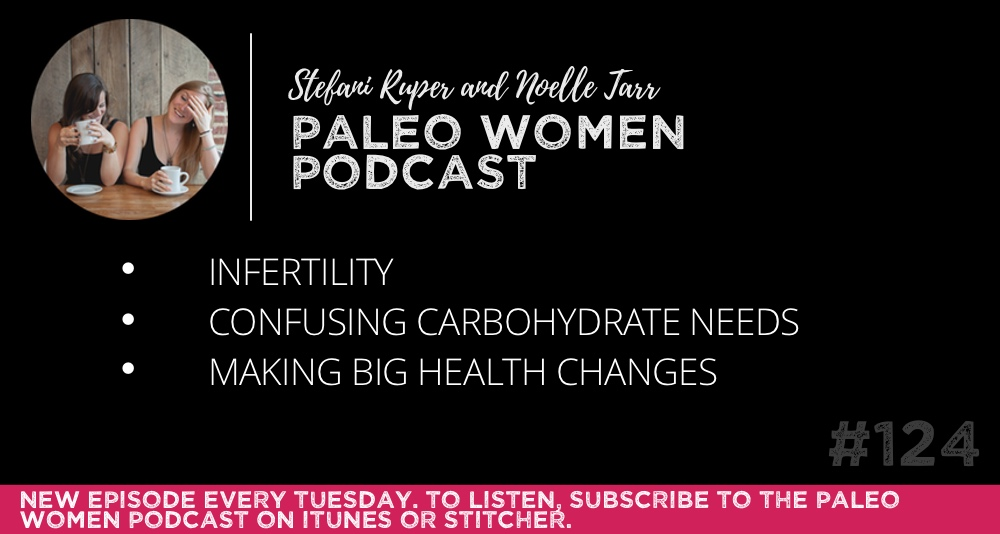 #124: Infertility, Confusing Carbohydrate Needs, & Making Big Health Changes